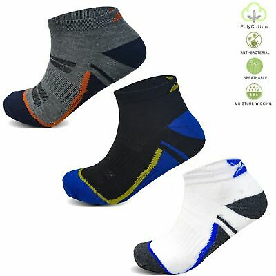 Socksology® 12 Pairs Mens Trainer Socks Cotton Sports Gym Ankle Liners 6-11 UK