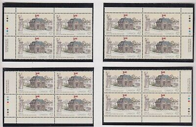 MATCHED SET PLATE BLOCKS 1124MNH 42c x 16 CAPEX 87, SAINT-OURS POST OFFICE