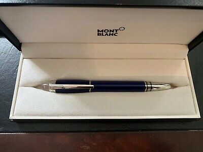 MontBlanc StarWalker Rollerball Pen - Royal Blue Resin / Platinum Finish