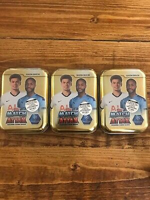 Match Attax 2019/20 Mini Tins X 3 Brand New Sealed 19/20 Season Topps