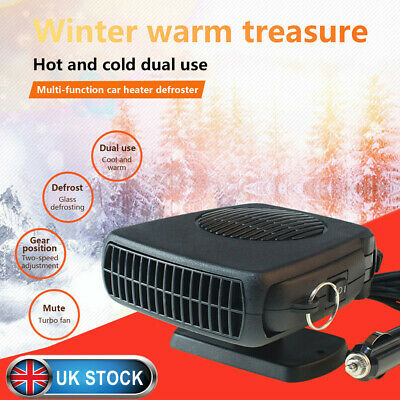 12V 150W Car Truck Heater Window Demister Hot Cool 2 in 1 Fan Defroster Portable