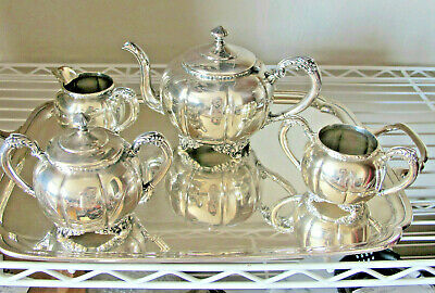 Forbes Silver Co Tea Set 5 pcs. Silver Plate
