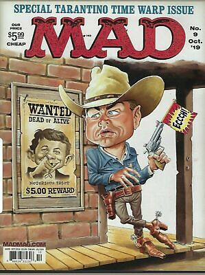 MAD Magazine October  2019 ~Tarantino Time Warp ~ The Last Issue on Newsstands