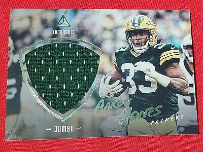 2018 PANINI LUMINANCE AARON JONES Jumbo PATCH RELIC #16 GREEN BAY PACKERS