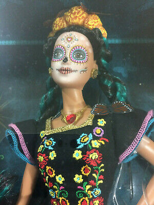Barbie Dia de Muertos Mexican Day of the Dead - READY TO SHIP -
