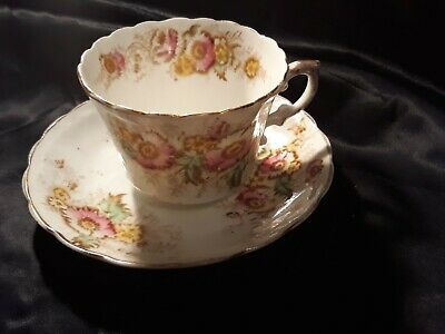 Antique/Victorian, 19th century Cup and Saucer - pretty floral
