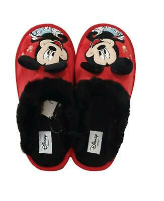 BNWT DISNEY MICKEY MOUSE SOFT PLUSH FOOTLETS SLIPPERS LADIES 3-8 UK PRIMARK