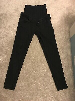 Black Mothercare Blooming Marvellous Size 12 Maternity Jeans Hardly Worn