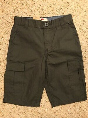 Levi's Levi Strauss & Co Boys Relaxed Fit Cargo Shorts Size 8 Regular