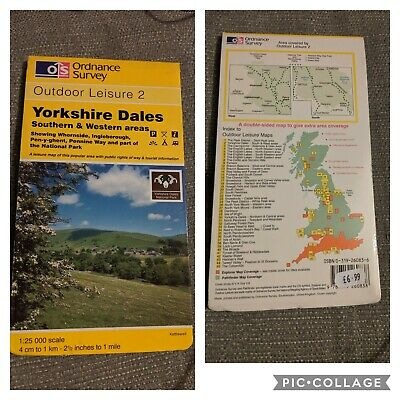 Yorkshire Dales southern & western area map Ordnance Survey Outdoor Leisure 2