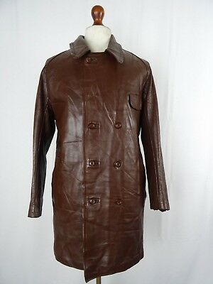 Vintage HORSEHIDE Leather Sports Motorcycle Dispatch Rider Jacket Coat 42R LD136