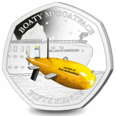 **IN STOCK ** 2019  BRITISH ANTARCTIC TERRITORY 50P Boaty McBoatFace.6000 ONLY