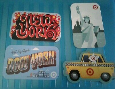 4 NEW YORK TARGET Gift Cards Yellow Taxi, Big Apple, Statue of Liberty Mint 2019