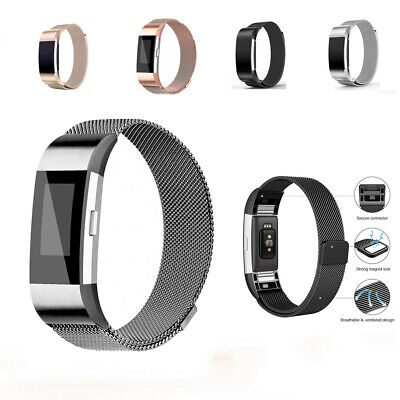 Stainless Steel Magnet Band For Fitbit Charge 2 Strap Replacement Milanese Band