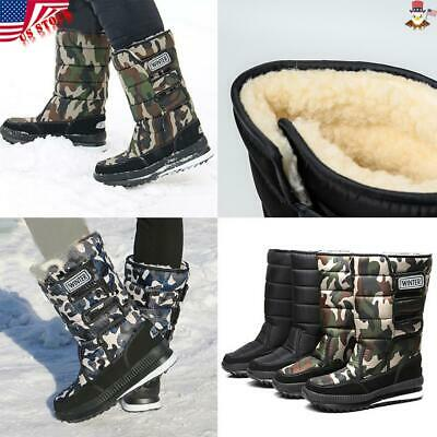 USA Fashion Mens Ankle Boots Lined Winter Autumn Warm Martin Boots Shoes Snow