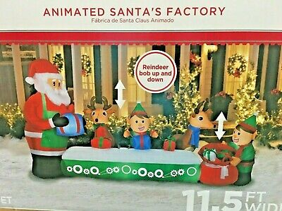 Gemmy Colossal Santa's Animated Toy Factory Airblown Christmas Inflatable