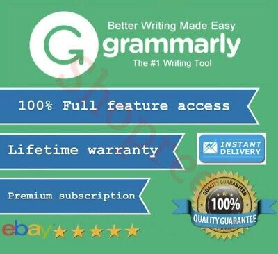 Grammarly Premium | Lifetime account W/ Lifetime Warranty | INSTANT DELIVERY |