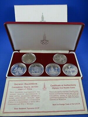 1980 Olympic Games In Moscow - Olympic One Rouble Coins - Russian U.s.s.r
