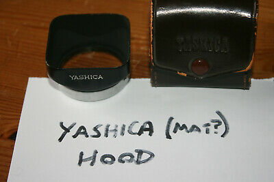 Yashica lens hood fits Yashica Mat, Rolleicord, Rolleiflex etc. with Case
