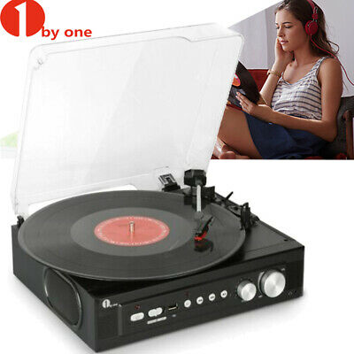 1byone Bluetooth Turntable Record Player Briefcase Suitcase Belt Drive w/Speaker