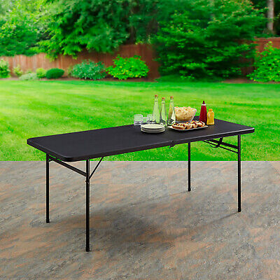 Folding Table 6ft Outdoor Portable Plastic Picnic Party Dining Camping camp bbq