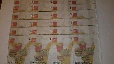 McDonalds Food Vouchers x 24 valid to 10/11/2019