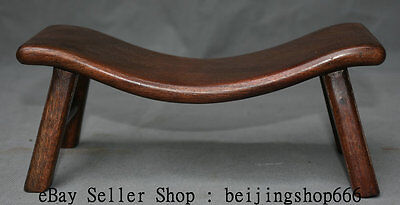"""10"""" Old Chinese Huanghuali Wood Dynasty Natural Lines Stool Footstool Decoration"""