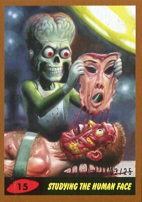 Mars Attacks The Revenge Bronze [25] Base Card #15 Studying the Human Face