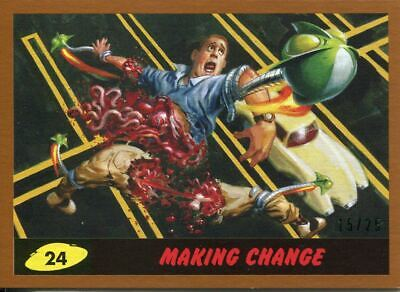 Mars Attacks The Revenge Bronze [25] Base Card #24 Making Change