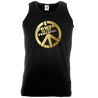 Unisex Black Power to the Peaceful Vest Desolate North Peace CND Protest