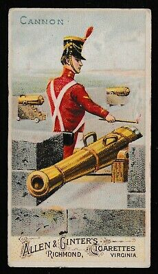 "Allen & Ginter Cigarette Cards ""Arms of All Nations"" 1885-1895 ""Cannon"""