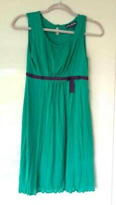 Mini Boden Girls Dress Age 11 - 12 years Fully Lined Emerald Green 100% Lyocell