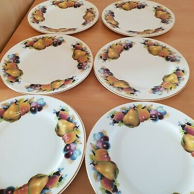 Chelson Fine Bone China | 6 Side Plates | Made In UK | Gold Rimmed | VGC |