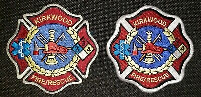 Missouri - 2 Different Style Kirkwood Fire Dept Patches MO