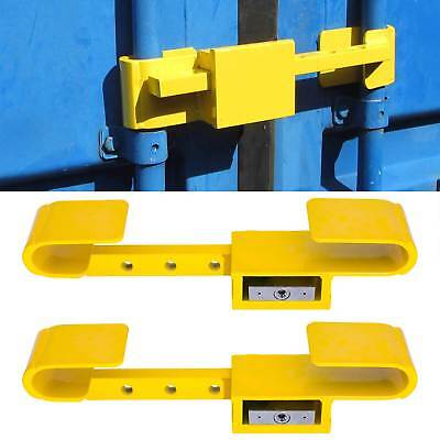 2x Container Lock Security Lock Theft Protection U-Lock 4 Key