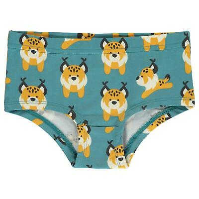Aw19 Maxomorra Lively Lynx Hipster Briefs Organic Cotton Scandi Knickers Pants