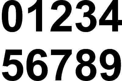hand iron or heat press numbers transfer printing iron on  LARGE 90mm black