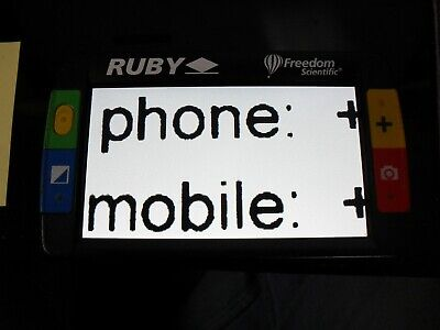 Ruby Handheld Video Magnifier by Freedom Scientific See Notes