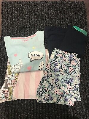 Girls Matalan And H&M Pyjamas/shorts/leggings Bundle Age 6 Years NWT
