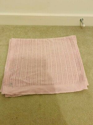 Baby Girl Pink Blanket-Soft Cotton Knitted Cellular, used and slight defect
