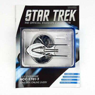 Star Trek Starship Collection USS ENTERPRISE 1701 F ONLINE LIVERY Eaglemoss
