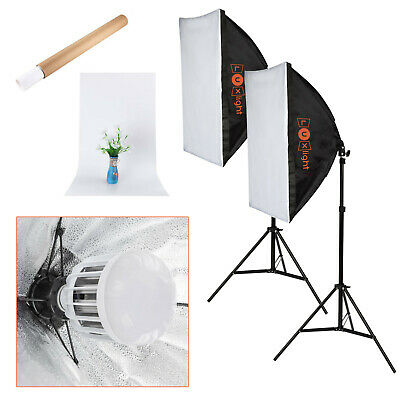 LED Softbox Lighting Kit & Backdrop | Continuous Photography Video Studio Light