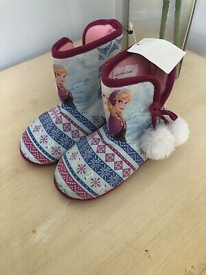 BNWT new with tags Disney Frozen Elsa slipper Boots size UK kids 13 Eur 32