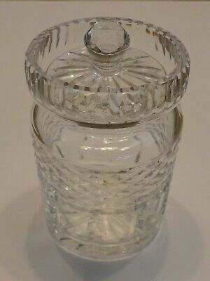 Waterford Crystal Castlemaine Jam Jelly Condiment Jar with Lid, Signed