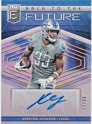Kerryon Johnson Detroit Lions 2019 Donruss Elite NFL Back to the Future AUTO /99