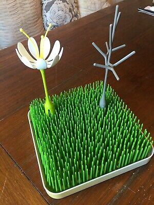 Boon Bottle Drying System - Grass - With 2 Accessories - Flower - Twig - 😆