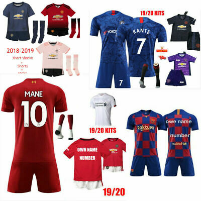 2019 Football Kits Soccer Suits Training Jerseys For Kids Adults SML 3-14Yrs A++