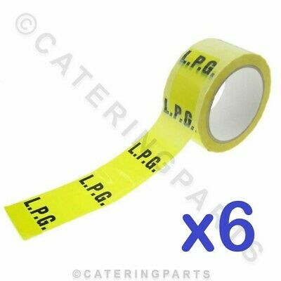 6 Rolls Of Gas Pipe Id Tape For Lpg Lpg Installation Identification Yellow Black