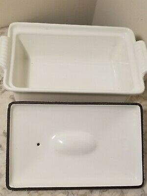 Vintage White #22 Le Creuset Cast Iron Pate Terrine Loaf bread/baking Dish