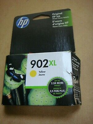 BIN FREE SHIPPING! ~ NEW Genuine HP 902XL YELLOW Cartridge ~ Exp OCTOBER 2020!